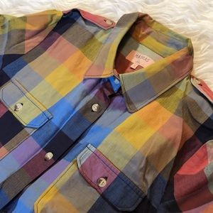 Madras by A.P.C. Epaulet Two Pocket Button Down
